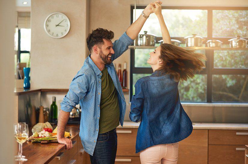 AAA Couple dancing in Kitchen
